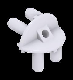 x-cett Eckverbinder weiß Bauteil Verbindungsstück Ansicht oben Zubehör